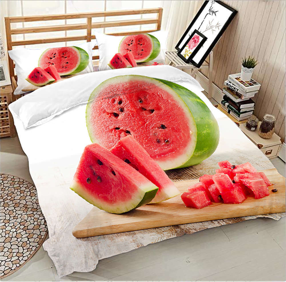 Washy Watermelon 3D Printing Duvet Quilt Doona Covers Pillow Case Bedding Sets