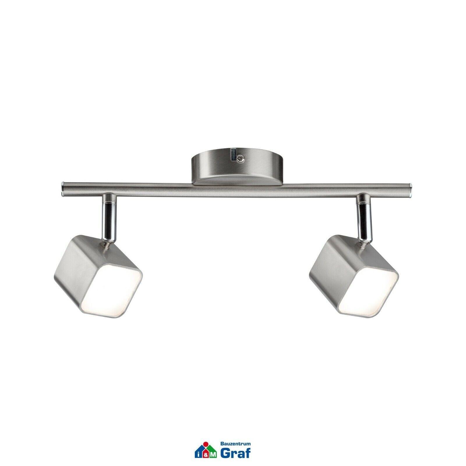 Paulmann LED Strahler CUBIK 2-flammig, 2-flammig, 2-flammig, 2 x 4 W, Eisen gebürstet, 3000K    844244 | Shop  |  ae6ebb