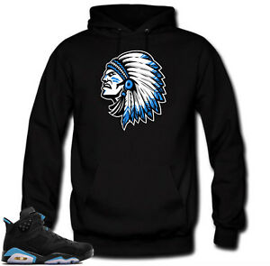 lowest price a53e5 34499 Hoodie to match Jordan Retro 6 UNC Sneakers.Chief 6 Black ...
