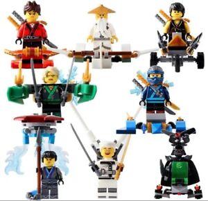 8pcs-Ninjago-Lloyd-Zane-Cole-Nya-Kai-Garmadon-Wu-Custom-Lego-Mini-Figur-Set