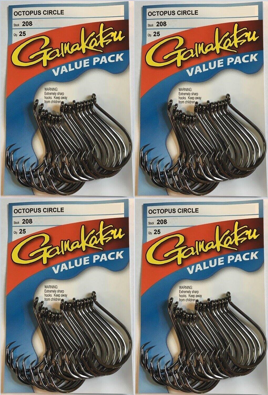 gamakatsu octopus circle hook size 1//0 25 per pack # 208411-25 value pack hooks