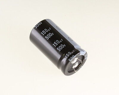5x 150uF 500V Radial Snap In Mount Electrolytic Capacitor 150mfd 500VDC Volts