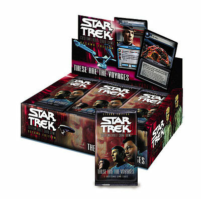 Star Trek CCG These Are The Voyages Booster Pack sealed
