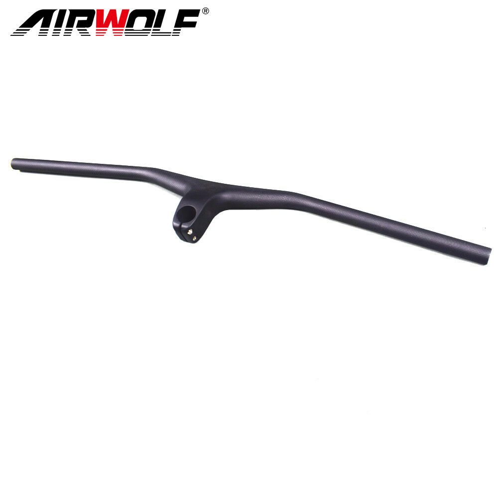 2019 carbon integrated mtb handlebar mountain bike aero bar with stem -17°