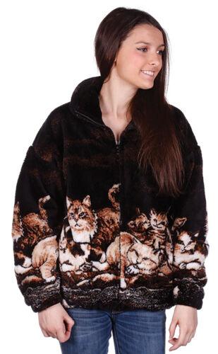 New Nights Meow SM - 5X Plush Fleece Kitten Jacket Cat Print