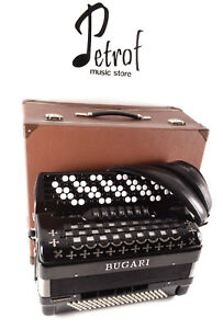 Top Quality Chromatic C System Button Accordion Bugari Superfisa-120 bass,12 sw.