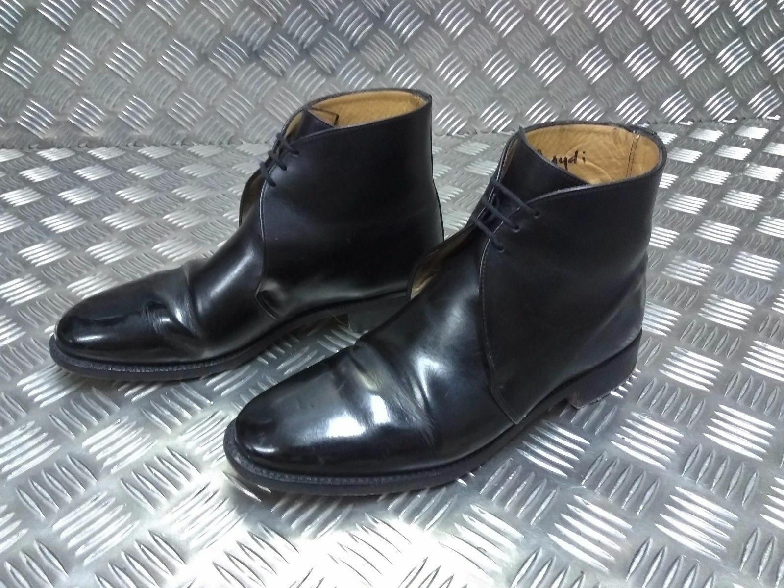 39c8bb9eb03c99 ... véritable question militaire britannique des bottes bottes bottes en  cuir noir de george cérémonial rs ...