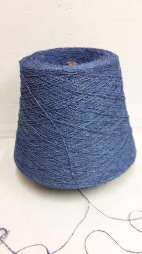 Wolle Garn Stricken/& häkeln Bouclè Kone 88/% Leinen Blau 900gr effektgarn b04