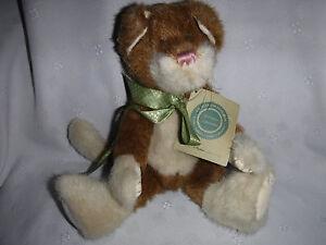 "Cookie Brown White Cat Kitten 10"" Boyd Bear Plush Soft Toy Stuffed Animal"