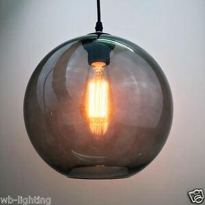 Antique-Vintage-Industrial-Black-Grey-Glass-Shade-Pendant-Lamp-Ceiling-Light-Bar