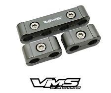 12pc Spark Plug Wires Billet Wire Separators Dividers V6 V8 Engine Gunmetal Kit