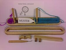 90 Strickrahmen L verstellbar Strickring Strickstab Strickbrett Knitting Loom