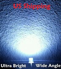 100 X 5mm White Ultra Bright LED Light Diode Flat Top 20000MCD Wide Angle