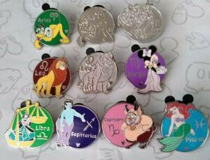 Zodiac-Collection-2012-Hidden-Mickey-Set-Series-Choose-a-Disney-Pin