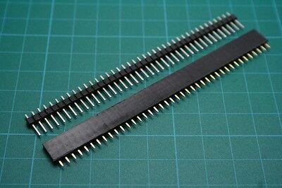 "5 Pairs 2.54mm/0.1"" 40 pin Male & Female Tin Square Breadboard Header Strip"