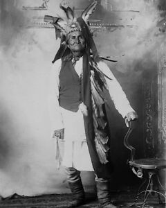 Native-American-Indian-GERONIMO-Vintage-8x10-Photo-Apache-War-Chief-Print-Poster