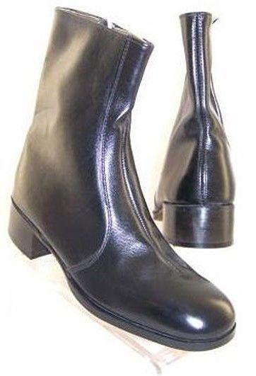 New avvioMASTER Hand-Made Men Blk Leather Casual Dress Beatles avvio scarpe Sz 8 C