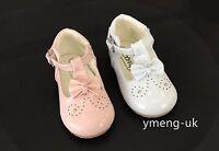 Sevva Baby Girls Spanish Patent Walking Shoes/T-Bar Big Bow/Size 1-6 Poppy