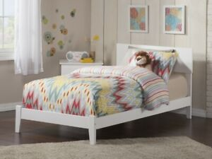 Image Is Loading Twin Xl Wooden Bed White Bedframe Indoor Headboard