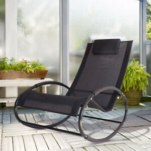 Admirable Details About Zero Gravity Rocking Chair Reclining Chaise Lounge Orbital Lounger Sling Rocker Pabps2019 Chair Design Images Pabps2019Com