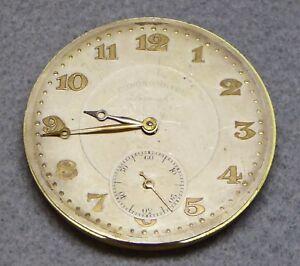 Pocket watch movement, Chronometre Lemah, working order, 45.3 mm.