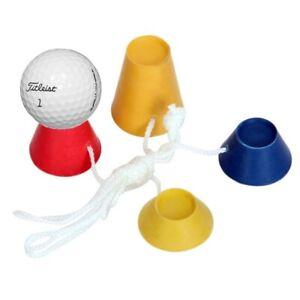 Golf-Tee-Inverno-Silicone-Supporto-Stand-4pcs-Set-con-Corda-per-Palla-da-Golf