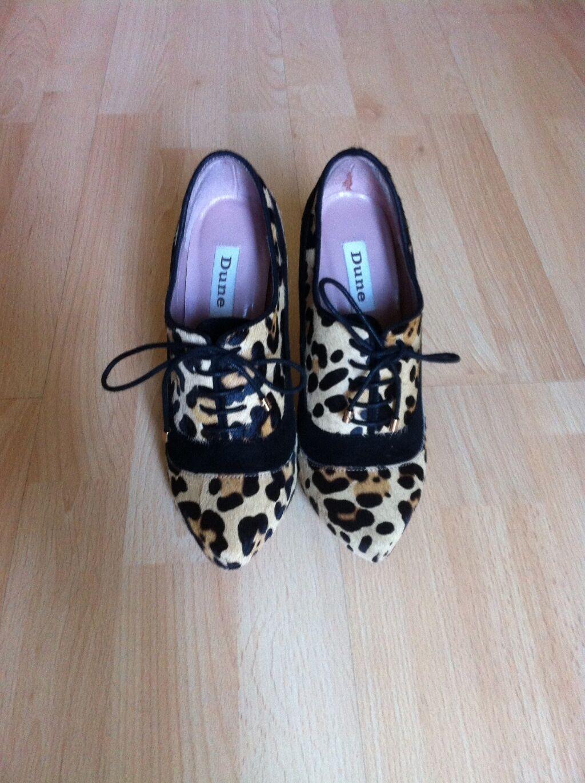 Dune leopard lace up ankle Stiefel Größe: Größe: Größe: 4 25d882