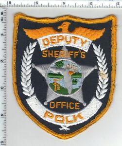 FLORIDA SHERIFF/'S OFFICE PATCH DEPUTY POLK COUNTY