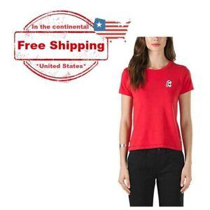 eeff42915e Vans Peanuts Snoopy Skates Basic T Shirt Tee Red (Women s Medium ...