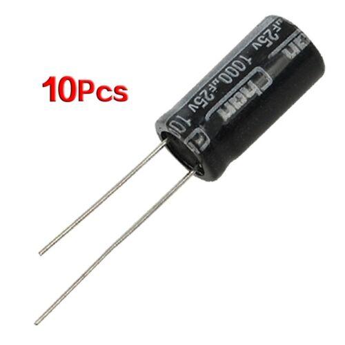 10 x 25V 1000UF 105C Radial Electrolytic Capacitor 10x20mm H4R2