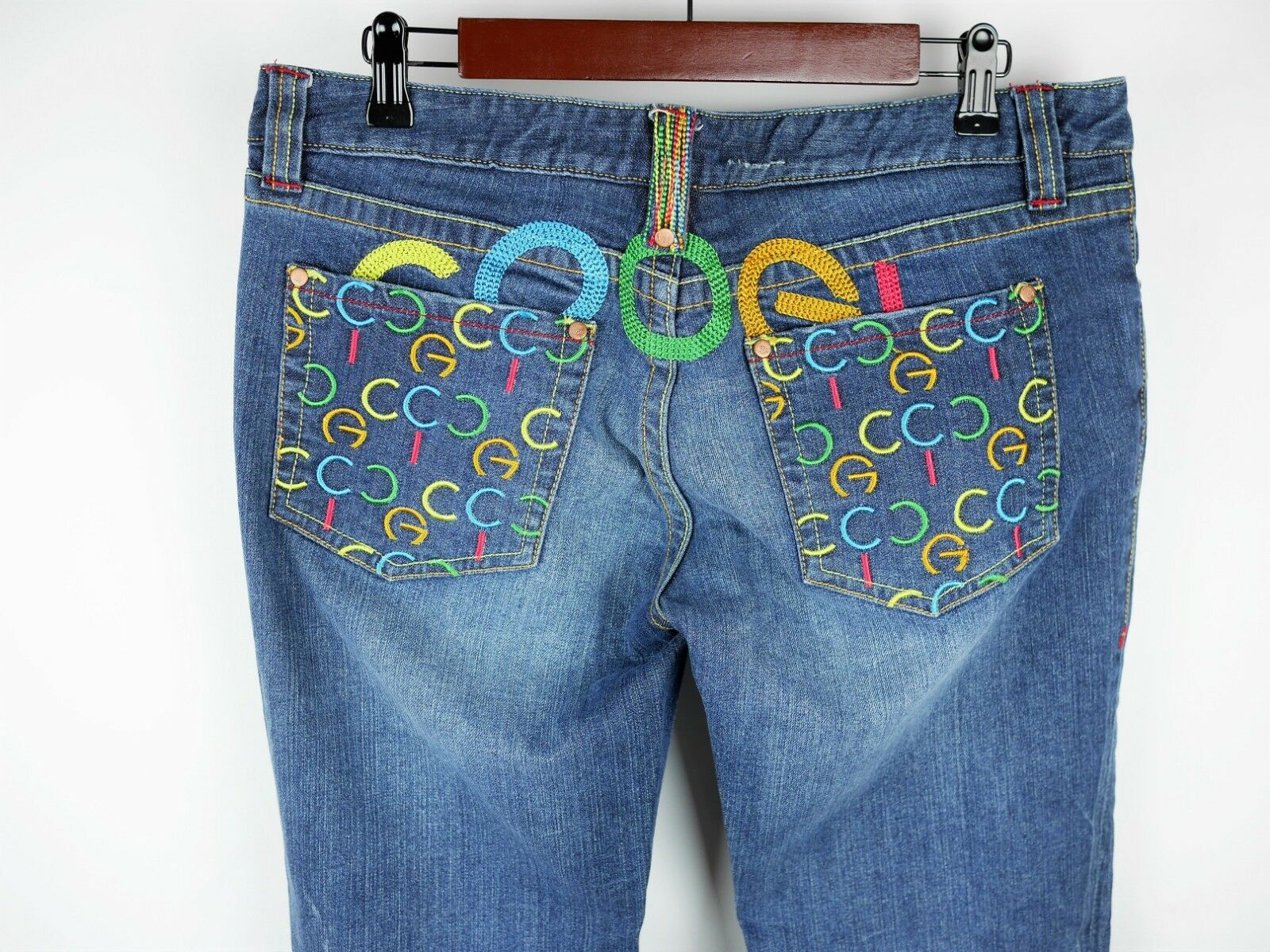 COOGI JEANS Women's 11   12 - MEDIUM WASH blueE JEANS BOOT CUT DENIM EMBROIDERED