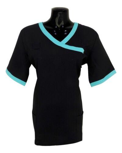 Womens Nurses Beautician Spa Salon Hospitality Maid House Tunic Uniform E1 TT3