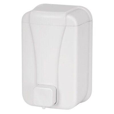 Seifenspender, Flüssigseifenspender Kunststoff Wandmontage 500ml weiß