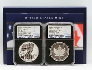 2019-Pride-of-Two-Nations-Silver-Eagle-Maple-Leaf-NGC-PF69-Sign-COA-Enhanced-Rev
