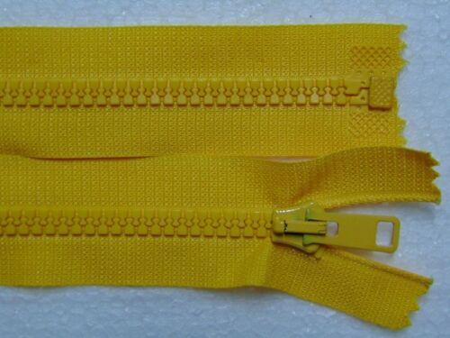 Reißverschluss teilbar Zahn 6 mm Kunststoff für Jacke 72...75 cm Farbe Goldgelb