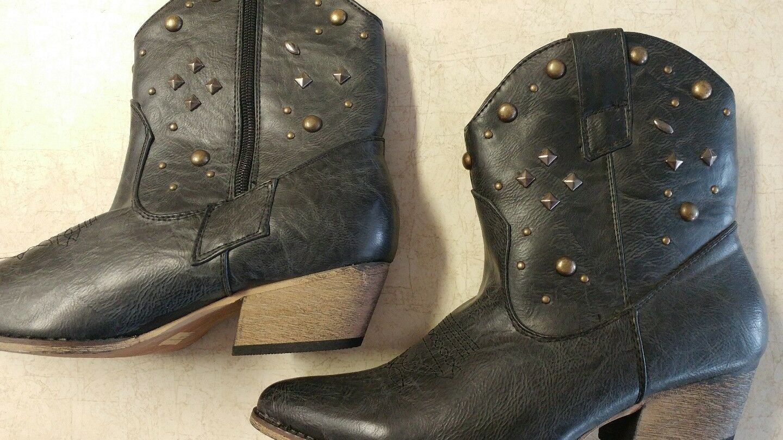 Women's Zipper Block Heel Ankel Boots shoes SZ 8 New All Manmade Material