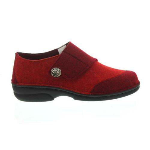 rossa Klettv Pantofola rimovibile Berkemann toppa bianco Sottopiede feltro donna da Jarla f0wqUX
