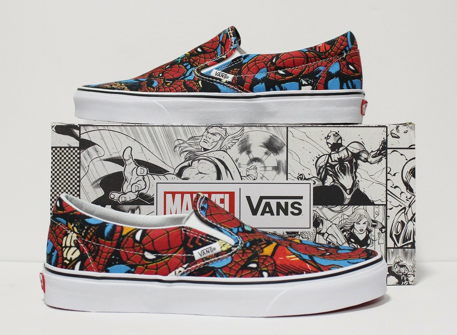 Vans X Marvel Classic Slip On Spider-Man Men's Size 10.5