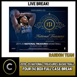 2019-20-NATIONAL-TREASURES-BASKETBALL-4-BOX-CASE-BREAK-B447-RANDOM-TEAMS
