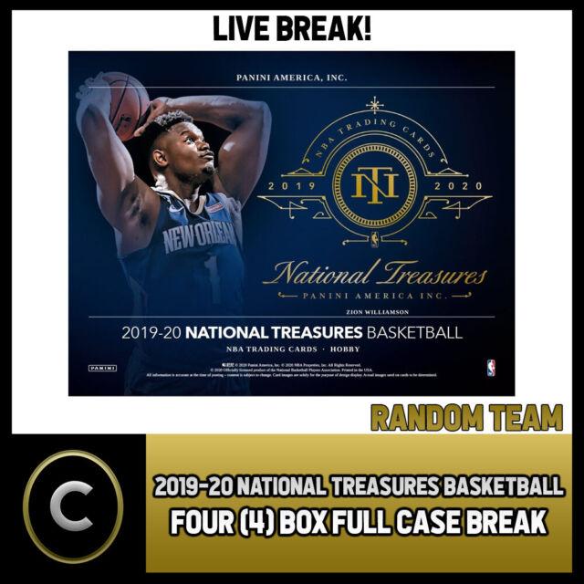 2019-20 NATIONAL TREASURES BASKETBALL 4 BOX (CASE) BREAK #B447 - RANDOM TEAMS