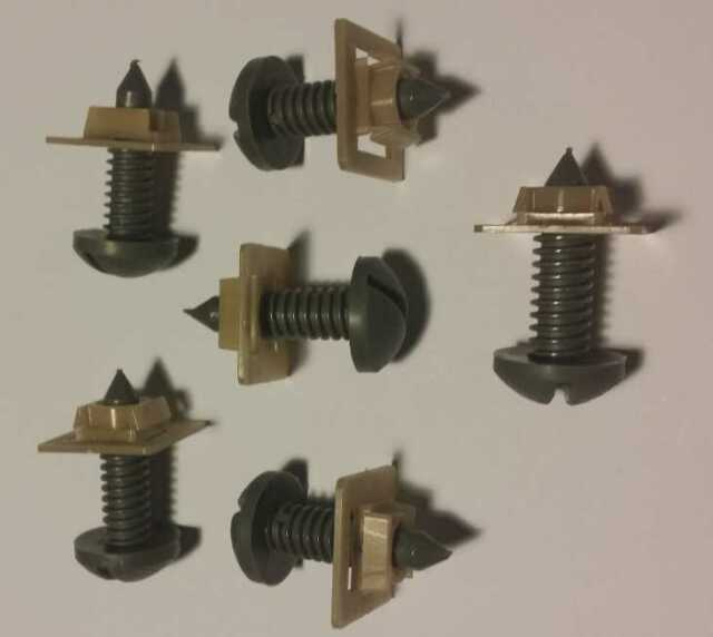 Camaro/Firebird Interior Rear Hatch Screws w/ Nuts Set - 12 Gray NEW