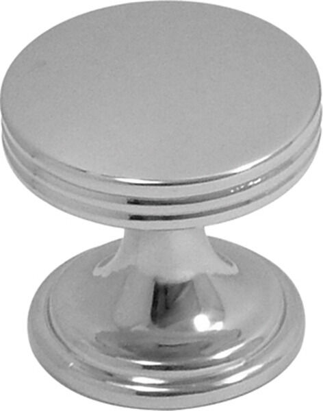 """Pack of 10 P2140-CH Chrome 1/"""" Flat-Top Cabinet Knob Pulls Hickory American Diner"""