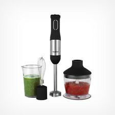 Black Voche/Â/® Premium 500W Intuitive One Touch Variable Speed Hand Blender with 3 PC Accessory Set