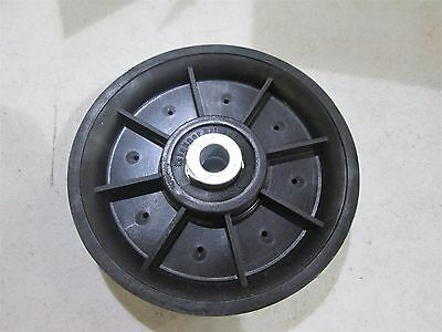 """Fenner Drivers Idler Sheave Pulley 1/2"""" ID Top Grove is ~0.93"""" 5"""" OD Round Belt"""