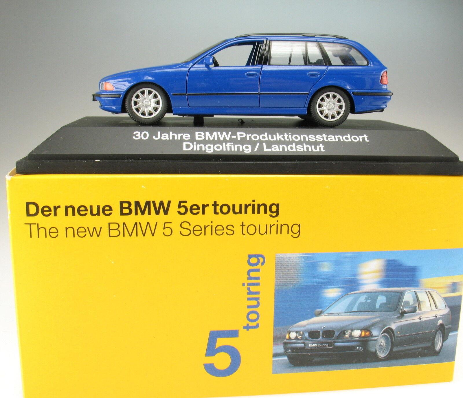 Schuco-BMW 528 I - 5er Touring-Bleu-Neuf Dans Box - 1 43 - Kombi