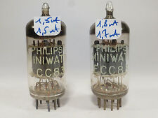 two 12AX7 ECC83 Philips Miniwatt one Made Holland, one made in UK Blackburn