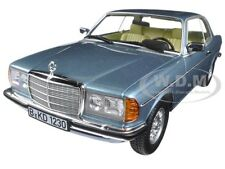 1980 MERCEDES 280 CE COUPE SILVER/BLUE 1/18 DIECAST CAR MODEL BY NOREV 183588