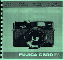 Fuji Fujica G690 BL Instruction Manual, Multi-language: Eng Fre Ger Span