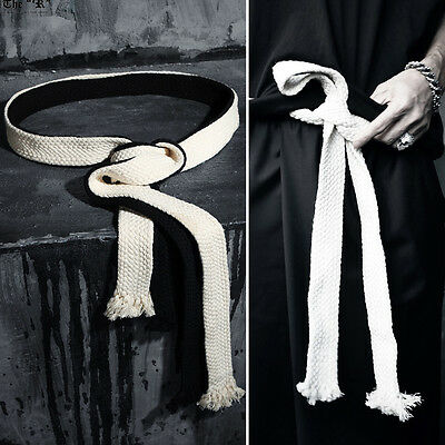 ByTheR Men's Fashion ByTheR Flat Rope Belt Gothic Onesize Vintage P000BIRW CA