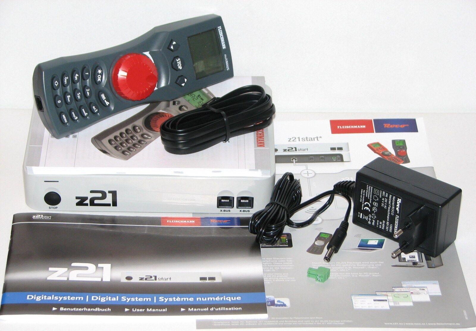 Roco   Fleischmann 10825 Digitalzentrale z21 start + Fleischmann MultiMaus - NEU